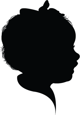 young girl silhouette