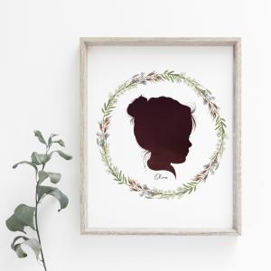 Art Print Silhouette Portraits